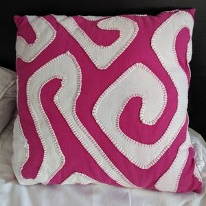 Target threshold purple white accent throw pillow